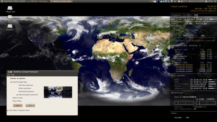 Real-time Sunlight Wallpaper, imágenes de satélites como fondo de pantalla